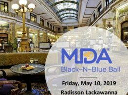 On May 10, The Radisson Lackawanna Station Hotel will host the 19th Annual Scranton MDA Black-N-Blue Ball.